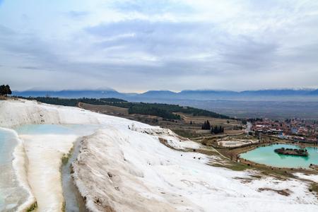 pamuk: Underground water going into travertines in Pamukkale, Denizli, Turkey
