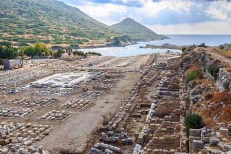 Market place of ancient city of knidos in Datca, Turkey
