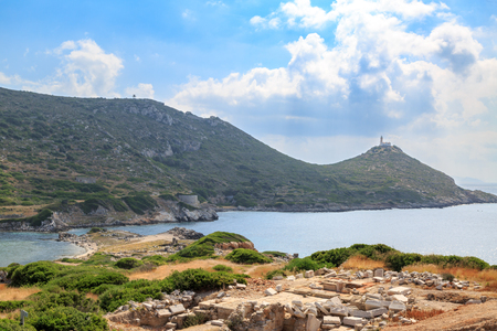 Military port side of ancient greek city knidos in Datca, Turkey