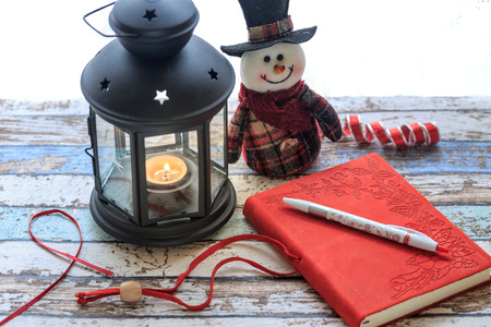 Journal and with snowman and lantern shinny