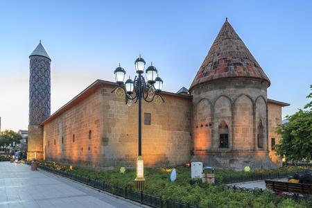 Famous medieval school from seljuks Yakutiye medresesi in Erzurum, Turkey