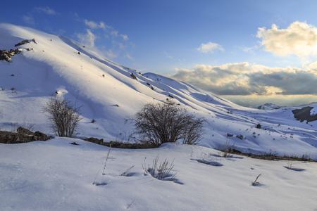 Mountains view in Erzurum province near Narman, Erzurum, Turkey