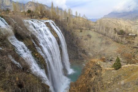 Tortum (Uzundere) waterfall from up in Uzundere, Erzurum, Turkey