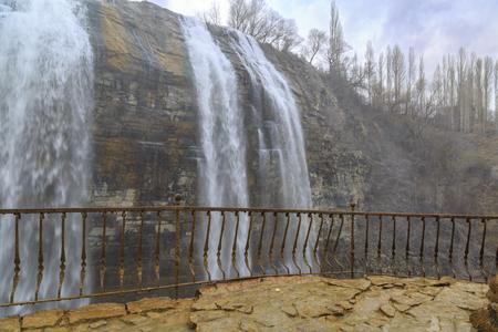 Tortum (Uzundere) waterfall from middle in Uzundere, Erzurum, Turkey