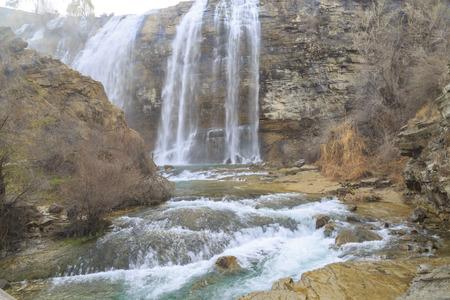 Tortum (Uzundere) waterfall from down in Uzundere, Erzurum, Turkey