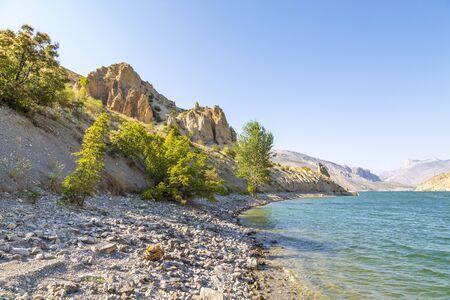 Tortum (uzundere) lake during summer time in Erzurum, Turkey