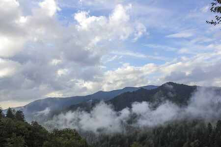 Smoky mountains with fogs in North Carolina, USA 写真素材