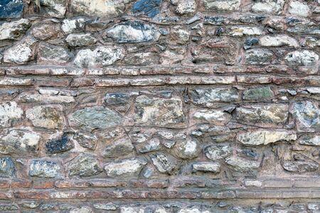 Old stone wall from Byzantine times in Bursa, Turkey Archivio Fotografico
