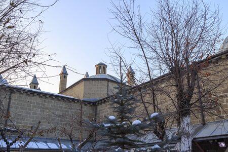 Inside of Tashan (Rustem pasha caravanserai) in winter in Erzurum, Turkey