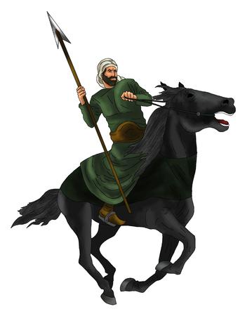 warrior horse Stock Photo