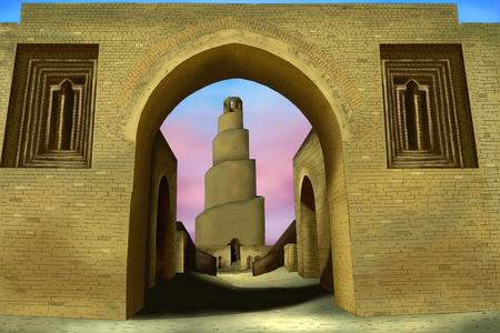 Samarra mosque Banque d'images