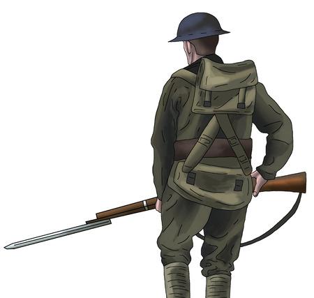 Soldado con rifle