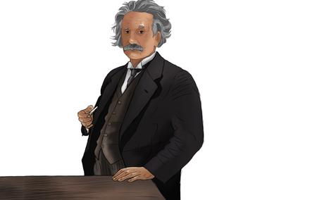 Albert Einstein 写真素材