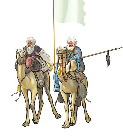 Soliders riding camel 免版税图像