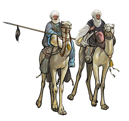 Soldiers ride camel