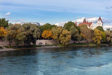 pilasters: Herzogskasten Ingolstadt and Danube River