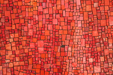 Background with red and pink stone tiles