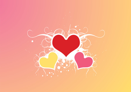 brilliant heart: Love Background