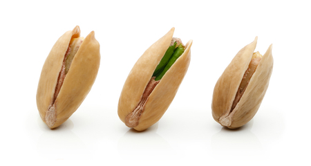 Pistachio nuts isolated on white background Stock Photo