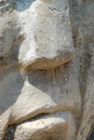 Nose of Medusa statue photo