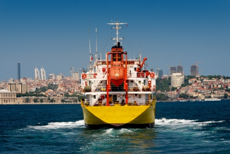 A cargo ship in Istanbul photo