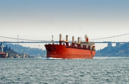 A ship moving through Bosporus