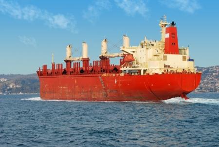 Cargo ship on the Bosporus  photo