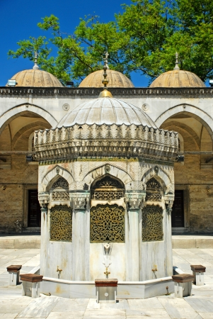 Istanbul - Yeni Valide Mosque, ablution fountain photo