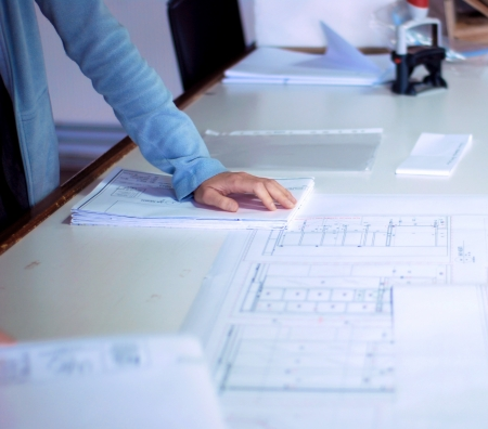Architect during work