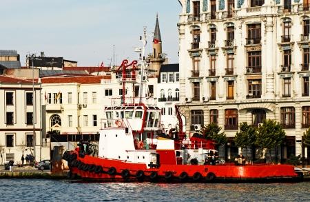 motor launch: fire boat