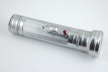 Old metal flashlight  Stock Photo - 17056835