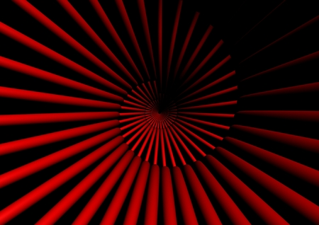 Red abstract shape photo
