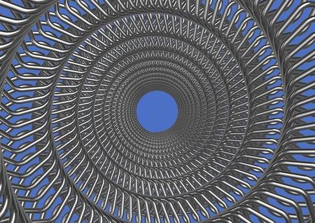 Twisted chrome metal photo