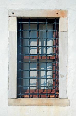 lattice window: Window with lattice in old building