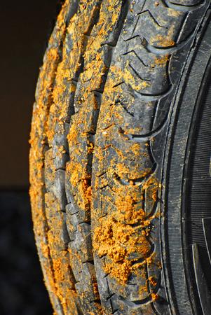 A muddy wheel Stock Photo