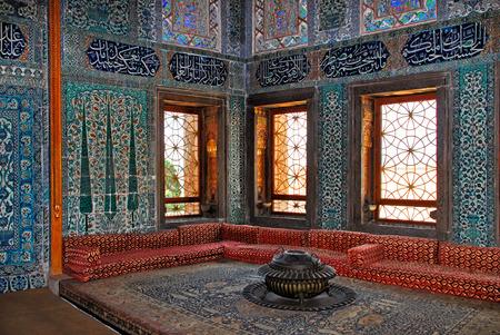 Topkapi palace interior, Istanbul Turkey 에디토리얼