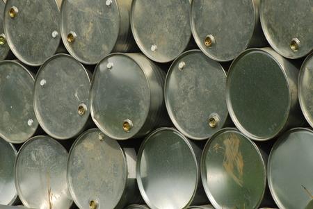 Gray color metal oil barrel photo