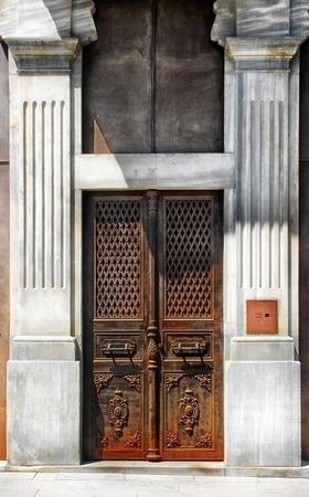 Old iron door Istanbul, Turkey