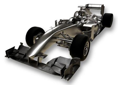 A 3d formula 1 car on a white background photo