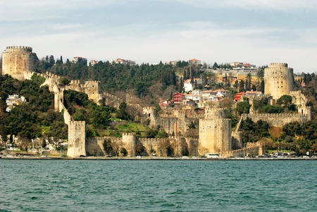 hisari: Rumeli Hisari Fortress in Istanbul, Turkey Stock Photo