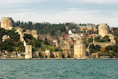 hisari: Rumeli Hisari Fortress in Istanbul, Turkey Stock Photo