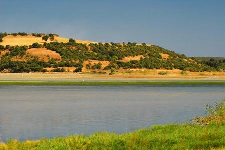 tuzla: View of Erikli Tuzla Lake, Turkey Stock Photo