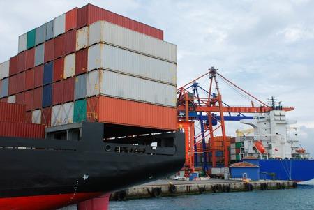 Cargo ship at Istanbul harbor