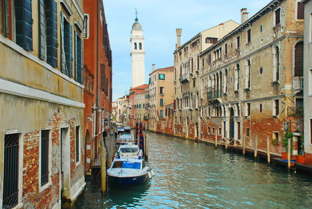 Canal in the Venice, Italy 報道画像