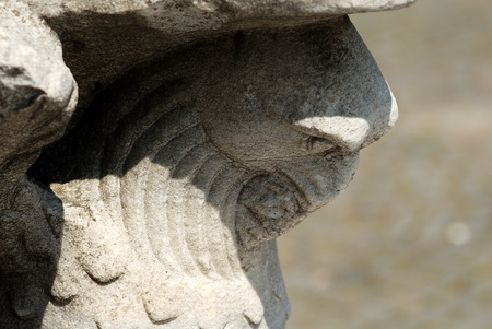 Eagle sculpture from Late Byzantine period 写真素材