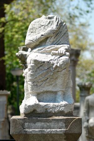 A headless statue in Istanbul Turkey Banco de Imagens