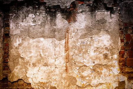 Texture of damaged brick wall Banco de Imagens