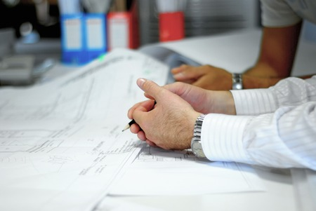 architect working on a project