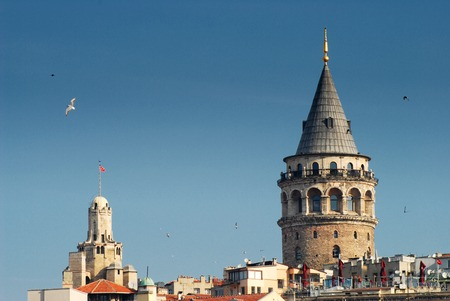 The Galata Tower called Christea Turris by the Genoese 写真素材