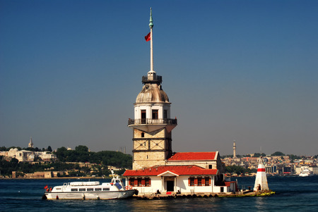The Maiden39s Tower also known as Leander39s Tower in Istanbul Turkey.